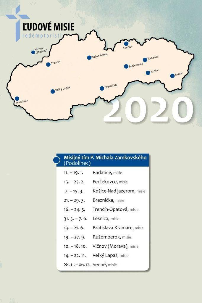 Misie- Redemptoristi 2020 - Zamkovský